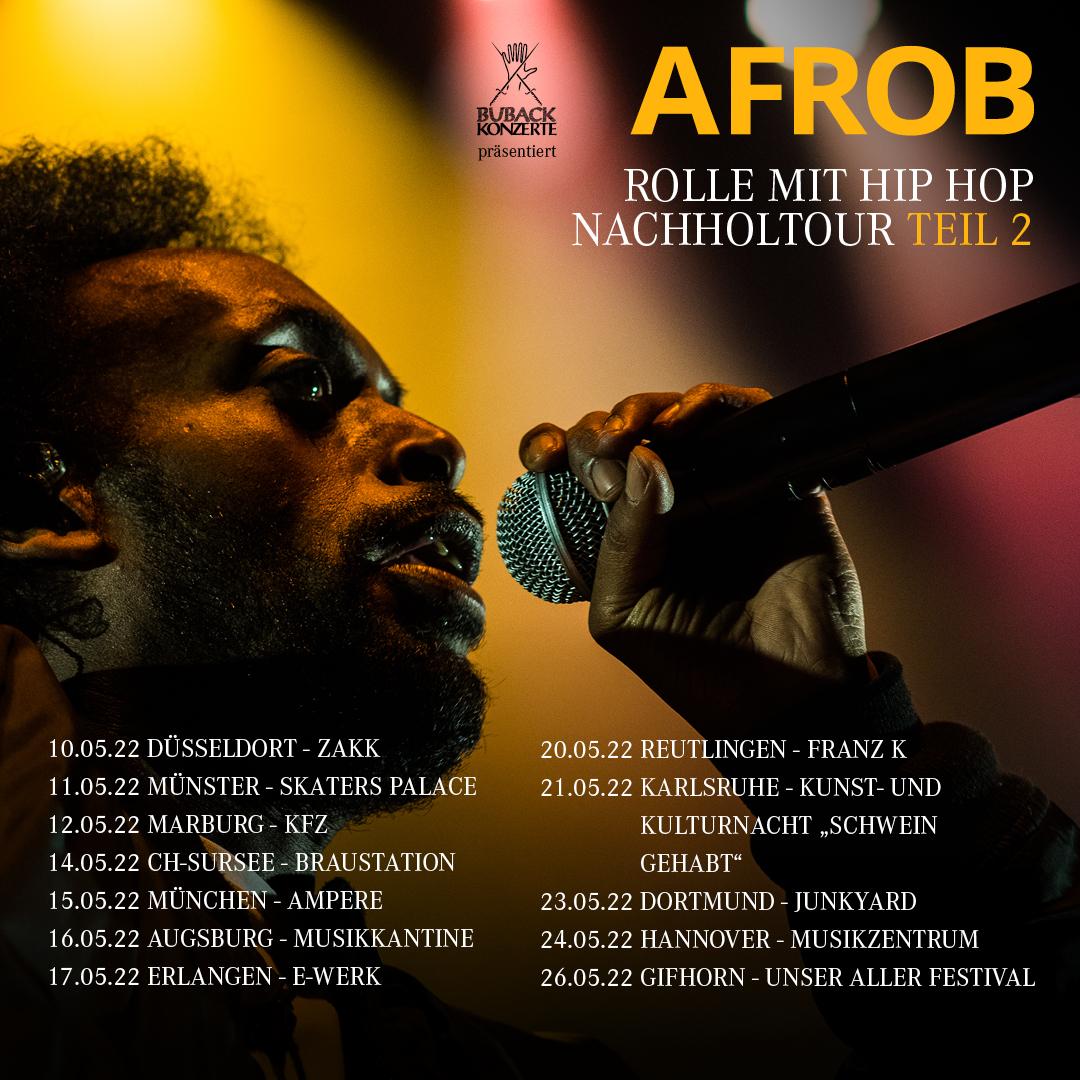 Afrob • Rolle mit Hip Hop Nachholtour Teil 2 •